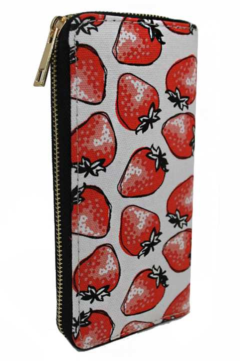 Canvas Animated Fruit Printed Zipper Wallets