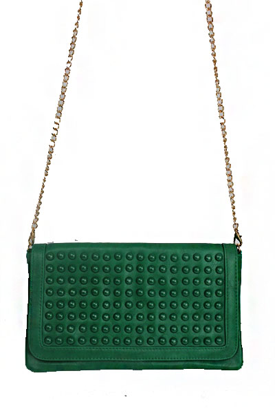 Tonal Studs Clutch Bag & Cross Body