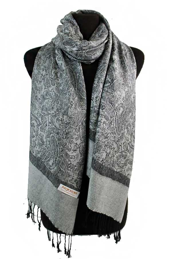 Paisley and Flower Pashmina Silk Solid Long Soft Scarf Wrap Shawl