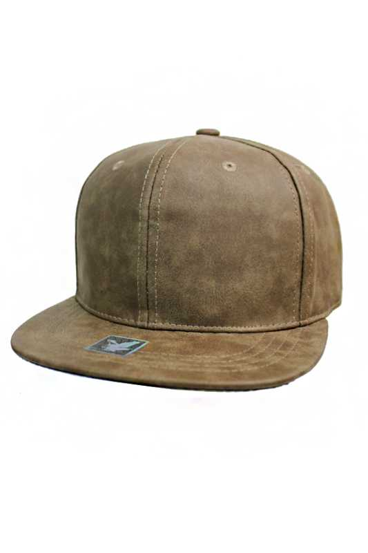 Matte Synthetic Leather Fashion streetwear Snap Backs