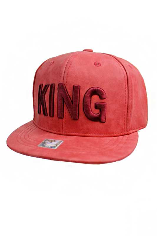 Royal KING Embroidered On Matte Leather Streetwear Snapback