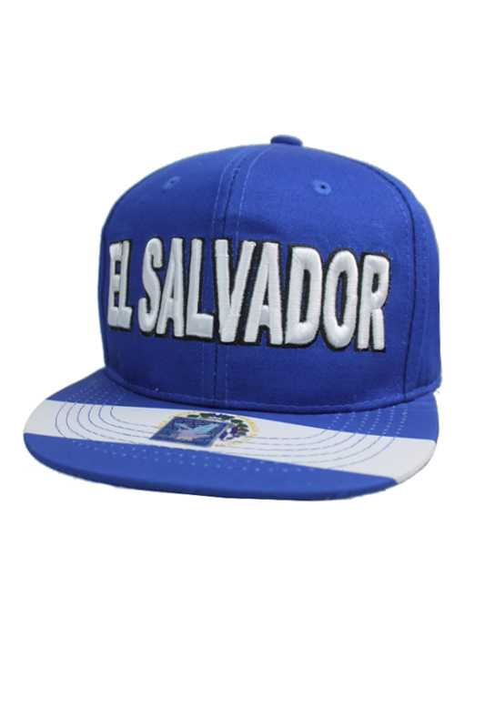 El Salvador, Honduras, Guatemala Country Embroidered Lettering Fashion Wear Snap Backs