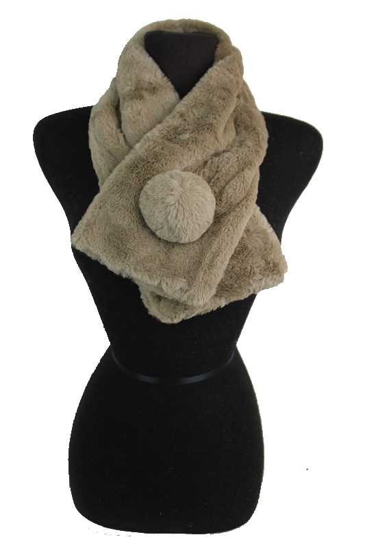 Brushed Velvet Feel Extra Soft Cowl Neck Styled Scarves with Bowl