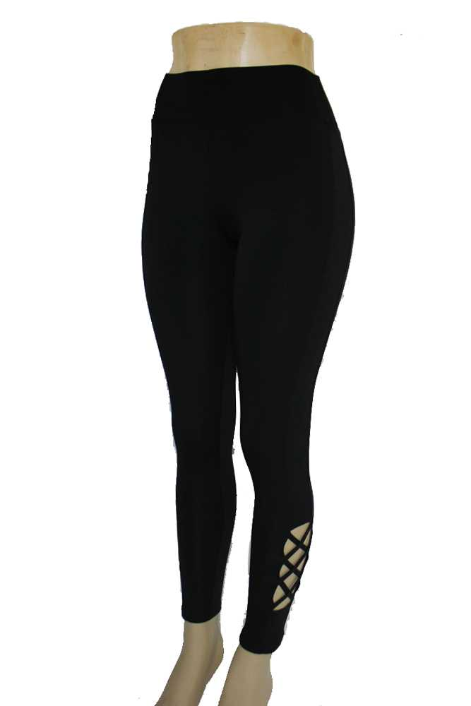 Active Wear Capri cut Out Corset Design Legging Pants