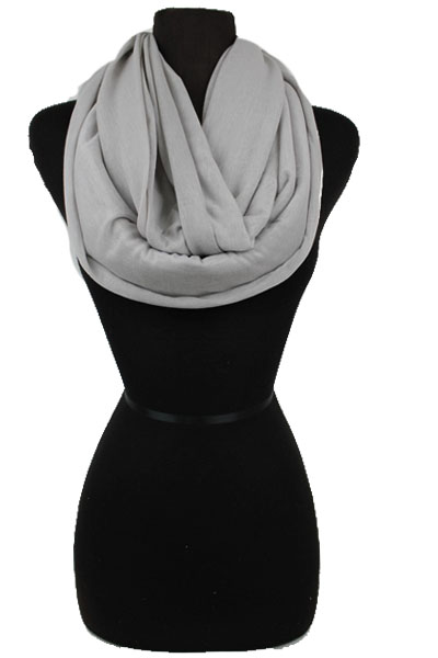Softness Jersey feel Light Color Infinity scarf.