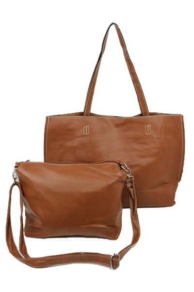 Two Tone Hobo Hand Bag Reversible Leather