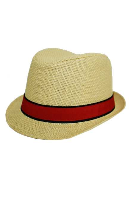 Straw Fedora With Two Tone Bow
