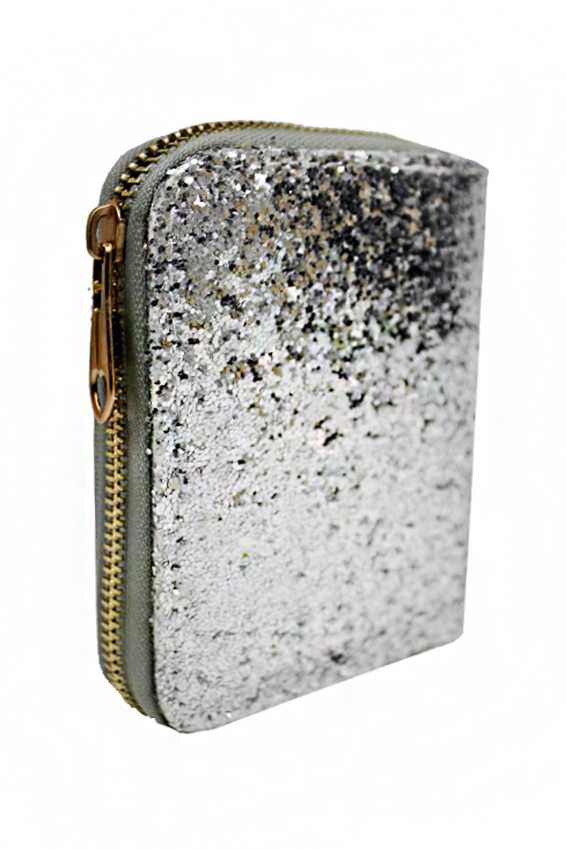 Sparkle Glitter Glam Zipper Mini Wallets