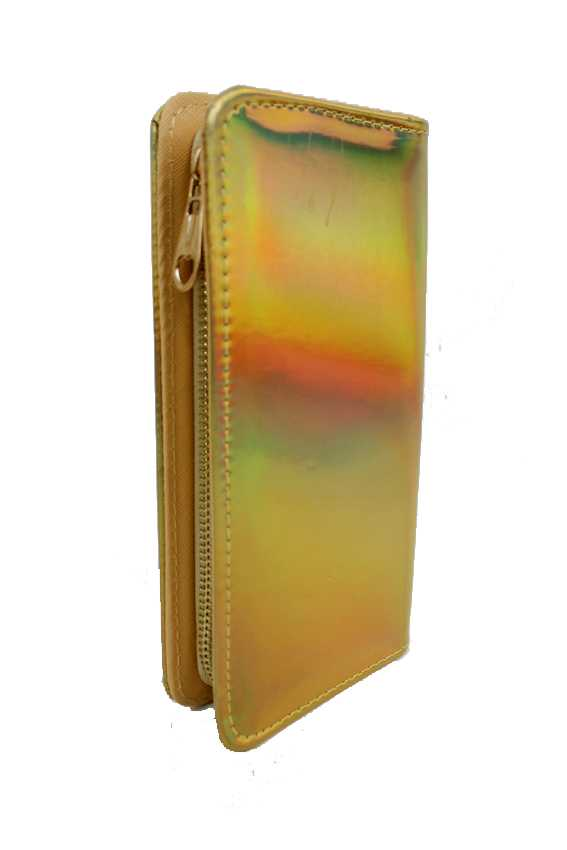 Hologram Full Length Zip Wallet