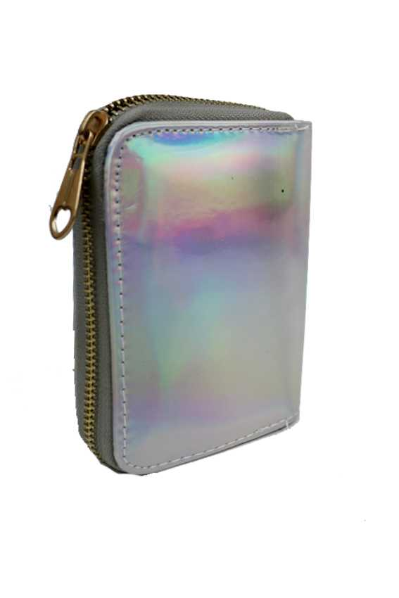 Hologram Mini Zip Wallet