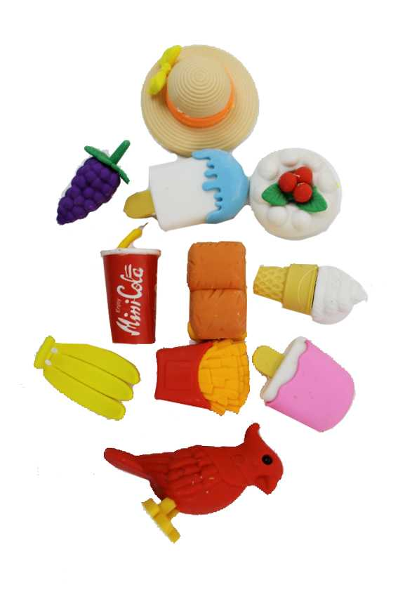 3D novelty Junk Food Stationary Erasers