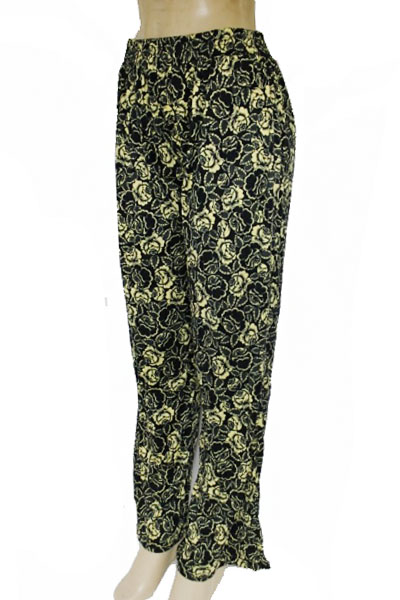 Floral Doodle And Paisley Printed Elastic Waist Band Palazzo Pants