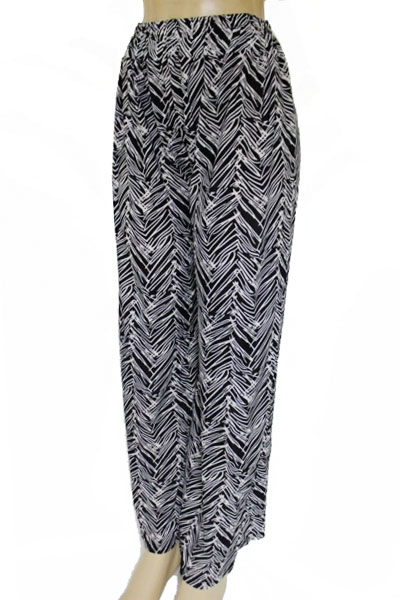 Scribbled Chevron Doodled Printed Palazzo Pants