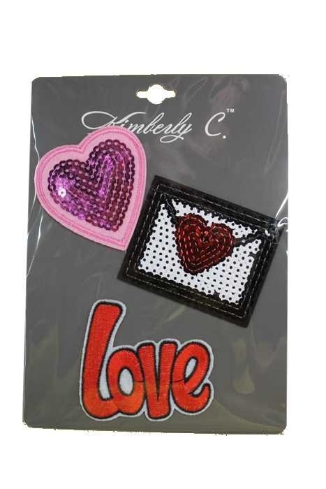 Sequin And Embroidered Iconic Symbol And Phrases Applique Patches