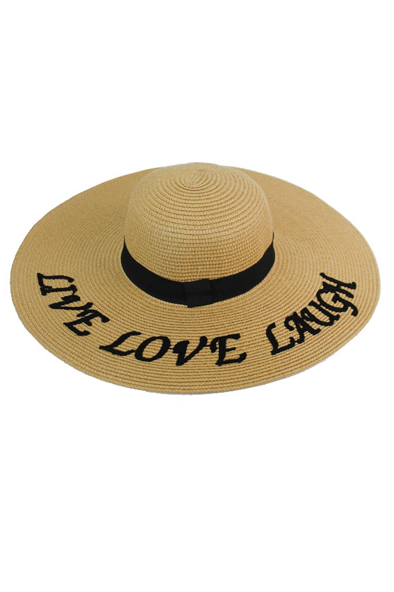 LIVE LOVE LAUGH Design Floppy Sun hat
