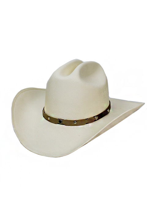 Authentic Elite Paint Finished With Simplistic Leather Band Cowboy Hat