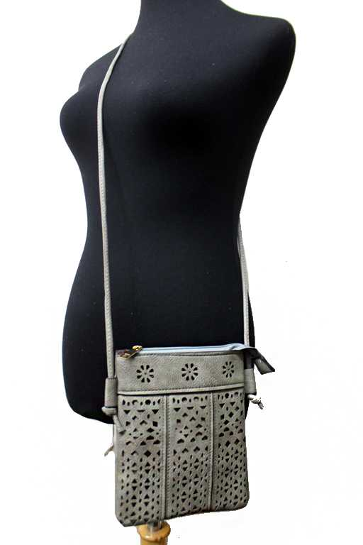 Laser Cut Boho Vibe Patterned Aztec Cross Body Bag