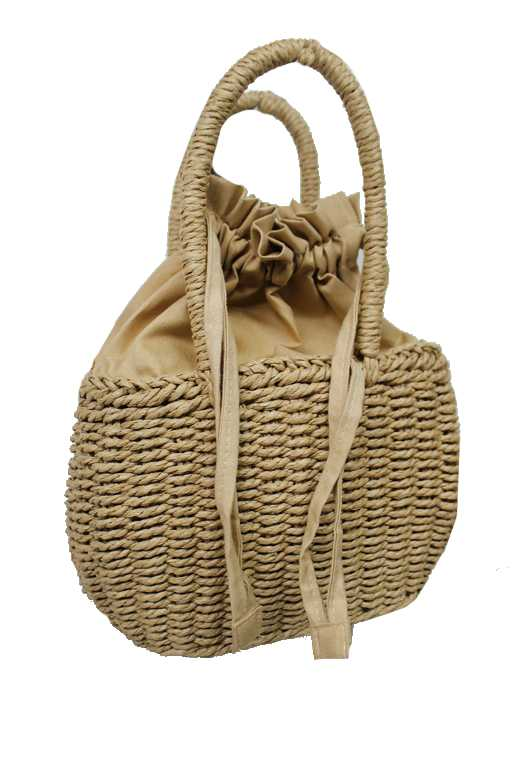 Picnic Beach Perfect Woven Straw Hand Bag