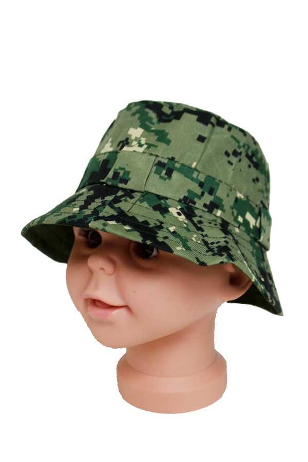 Camouflage Printed Soft Cotton Bucket Hat for Juniors