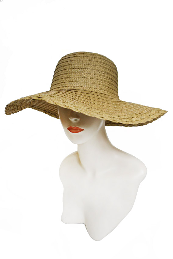 Basic Weave Twist Edging Summer Floppy Sun Hat