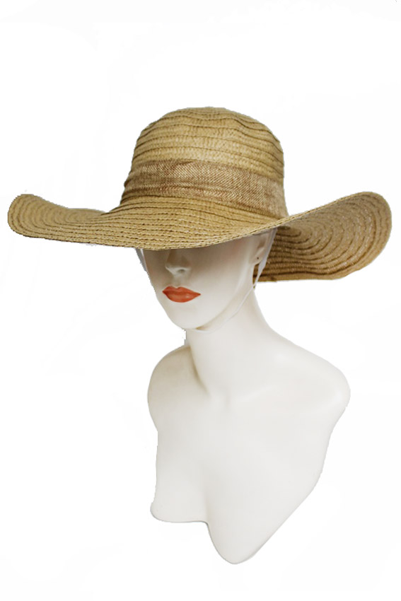 Basic Weave Cotton Bow Band Floppy Sun Hat