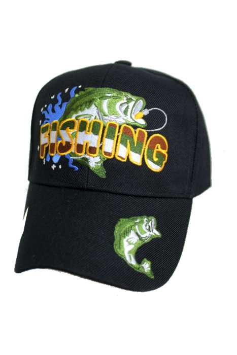 Fishing Colorful Embroidery Design Baseball Cap
