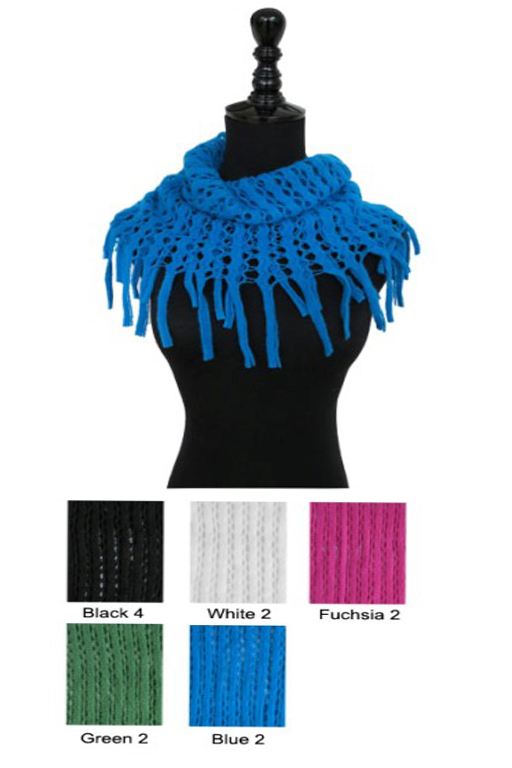 Laser Cut Oval Knit Mini Magic Scarves
