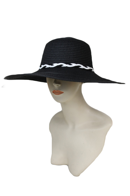 Twisted Braid Wide Floppy Chic Sun Hat 8274beceed19