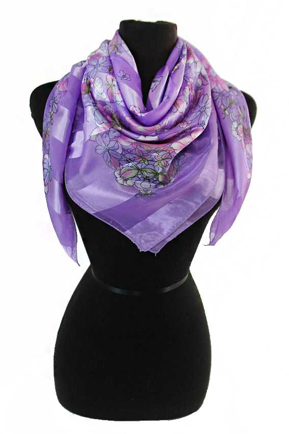 Little Blossomed Florals Chiffon Silk printed Hanky Scarves
