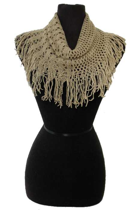 Net and Hole Pattern Knitted Design Mini Magic Softness Scarves