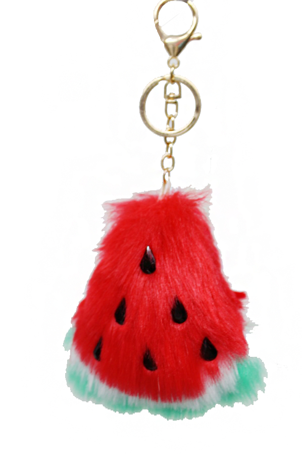 Watermelon with Fur Design Key chain