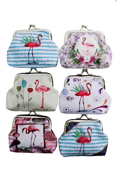 Mini Flamingo Coin Purse Bags