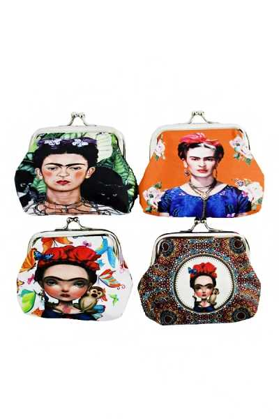 Compact Cultural Icon Frida Kahlo Coin Purse
