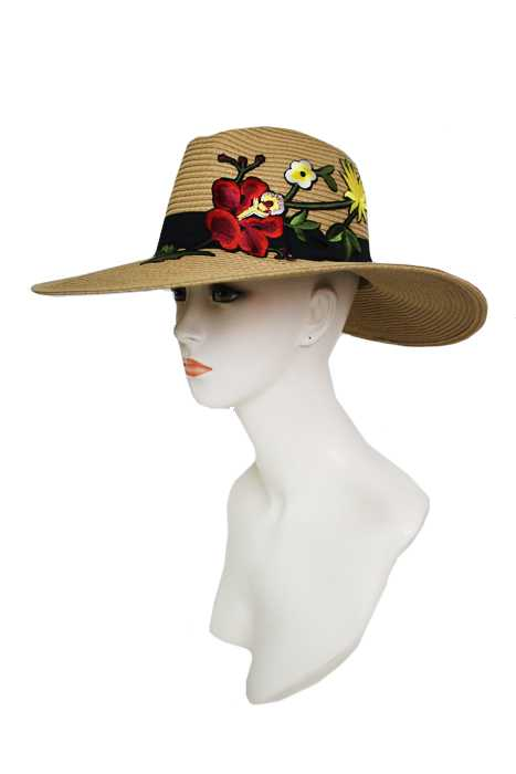 Blossomed Orchid With Mini Daisy Panama Hat