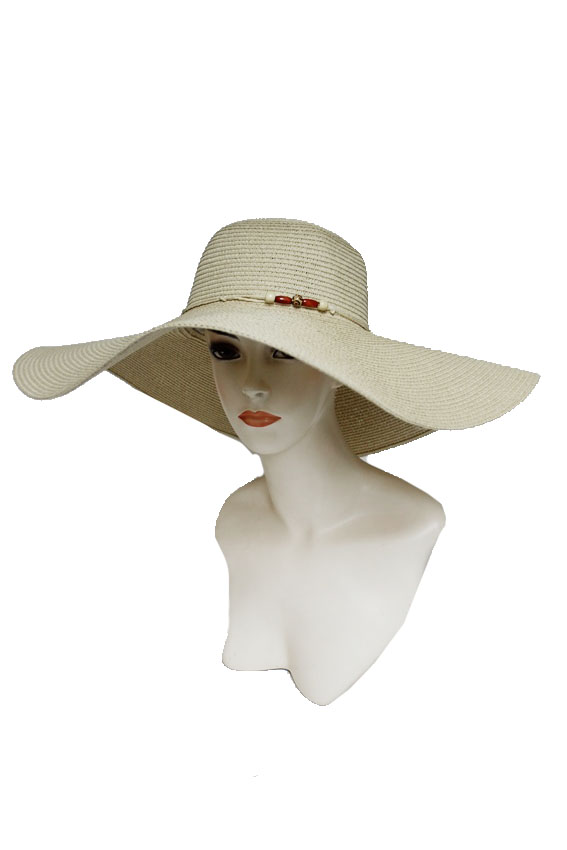 Extra Wide Floppy Simplistic Bead Band Sun Hat
