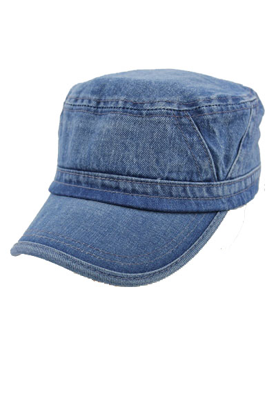 Denim Chevron design softness Washing Cadet Hat