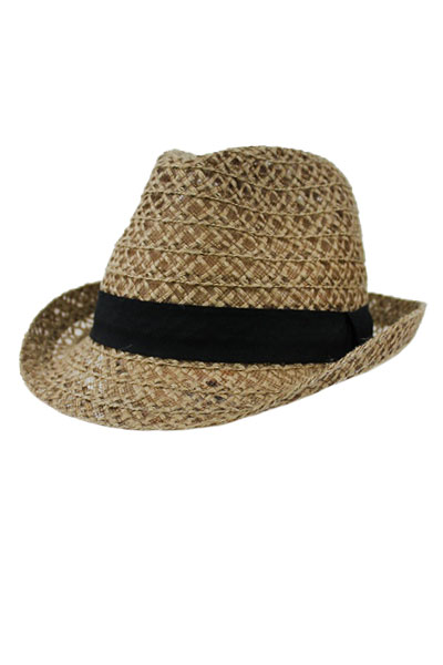 Natural Straw Softness Fedora