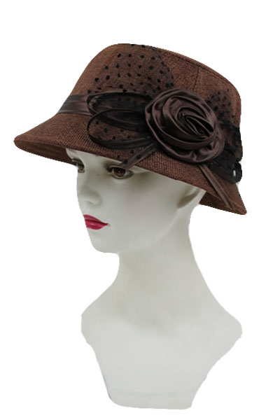 Fancy Bucket Hat with Lace Bow