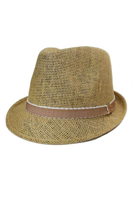 Frayed cotton Band Colored Casual Summer Wear Fedoras