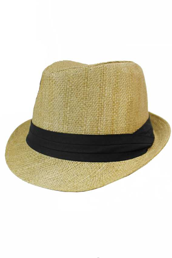 Basic Unisex Natural Straw Fedoras