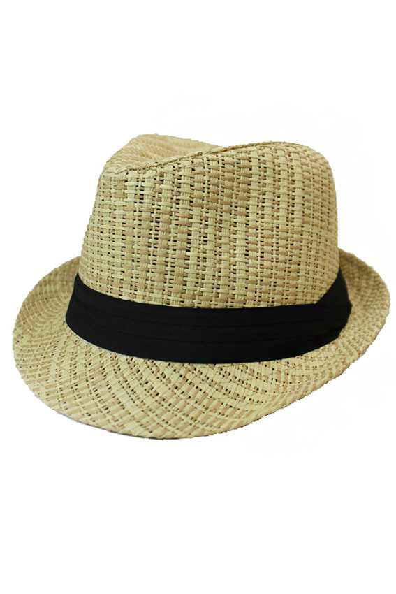 All Natural Cross Weaved Fashion Fedora