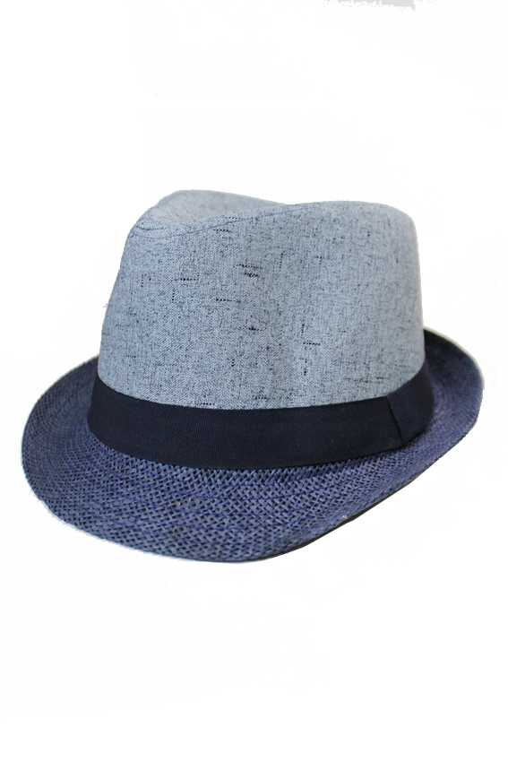 Cotton And Straw Structured Two tone basic Wear Fedoras