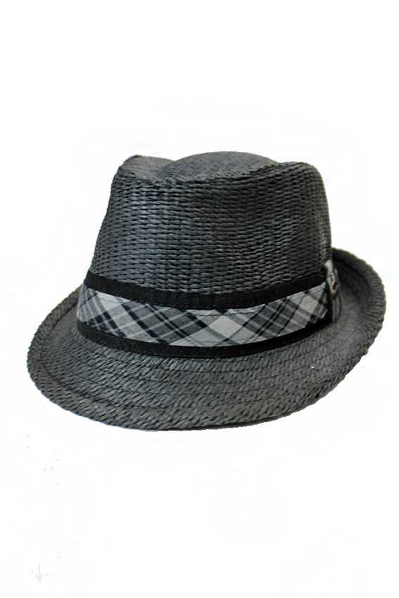 All Black On Black Natural Died Straw Men Fedora