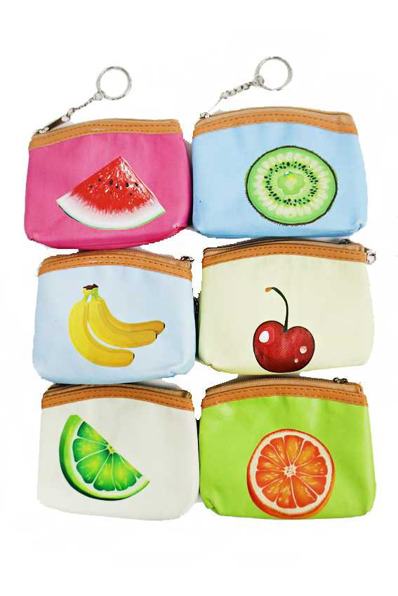 Fruity Tropical Summer Fresh Printed Miniature Coin Purse