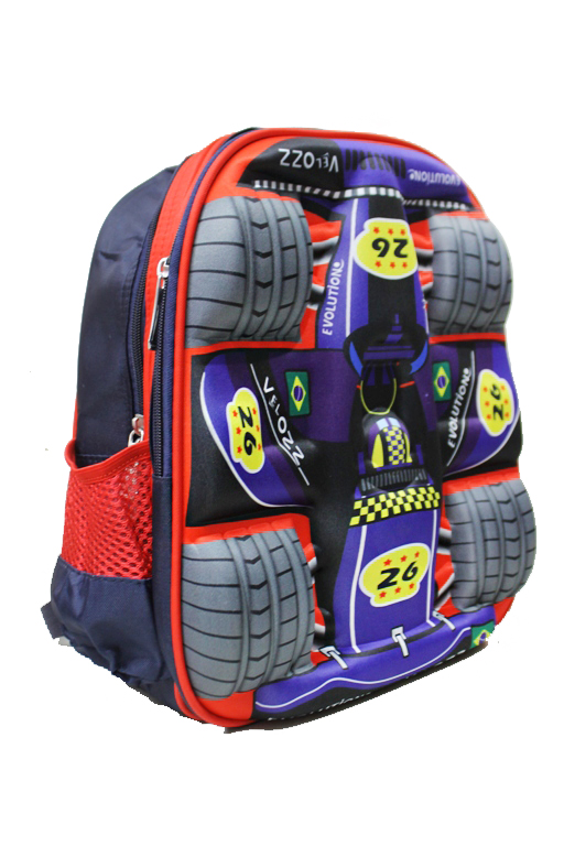 Racing Car 3D Boy youth Back Pack