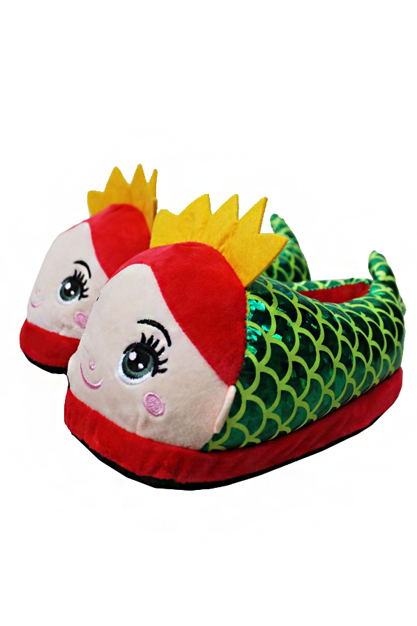 Princess Mermaid Designed, Fluffy and Soft Kids Slippers