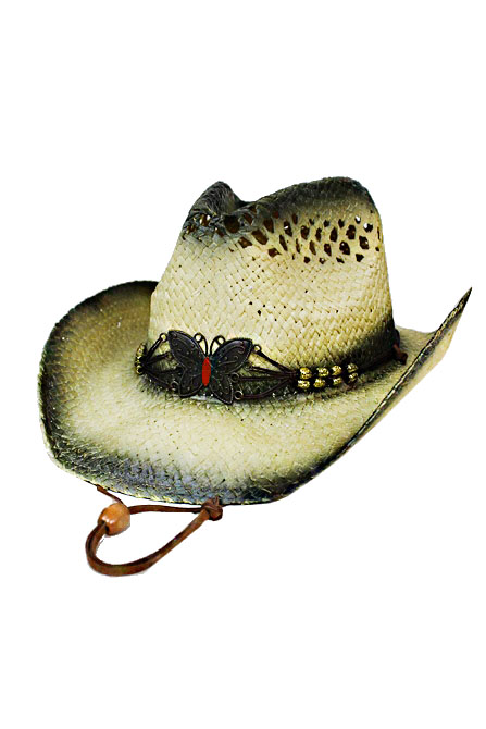 Butterfly Metal Design Western Hat