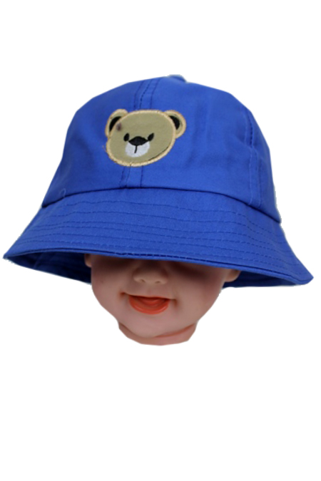 Baby Baseball Style with Bear Design Softness Cotton Hat