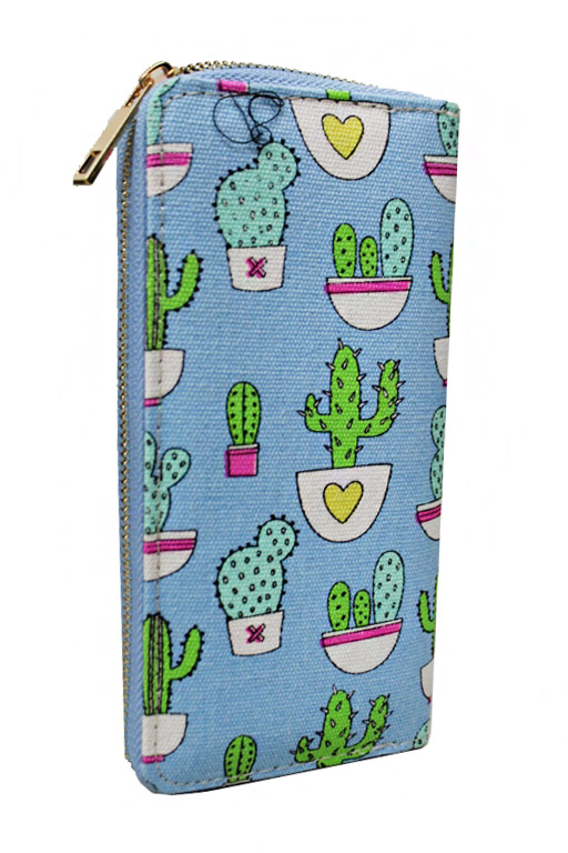 Animated Cactus Boho Vibe Fashion Printed Wallets