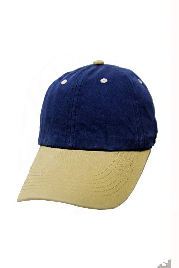 Two Tone Pigment-Dyed Baseball Cap